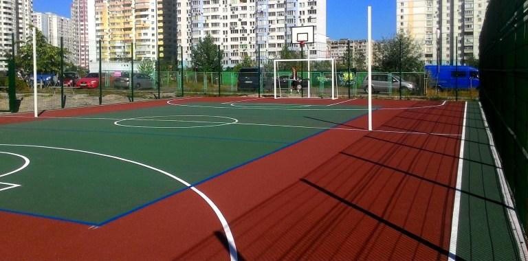 Покрытие из резиновой крошки для открытых спортивных площадок