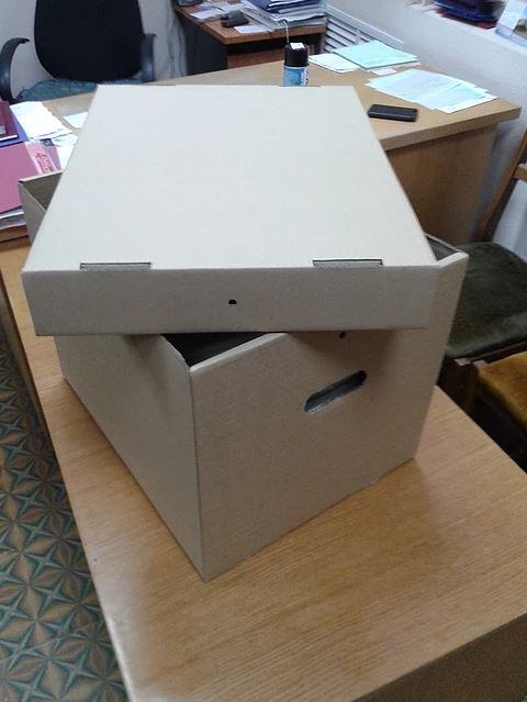 Архівний короб з отворами для пломбування