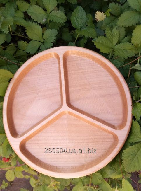 Менажница из дерева на три деления .