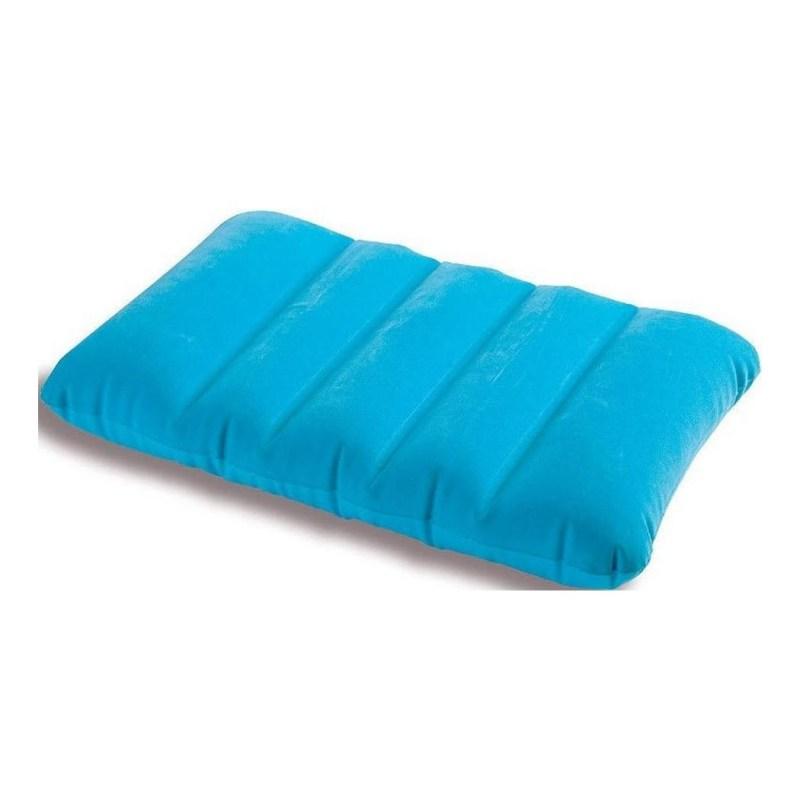 Подушка Intex надувная велюр 68676 (голубой)