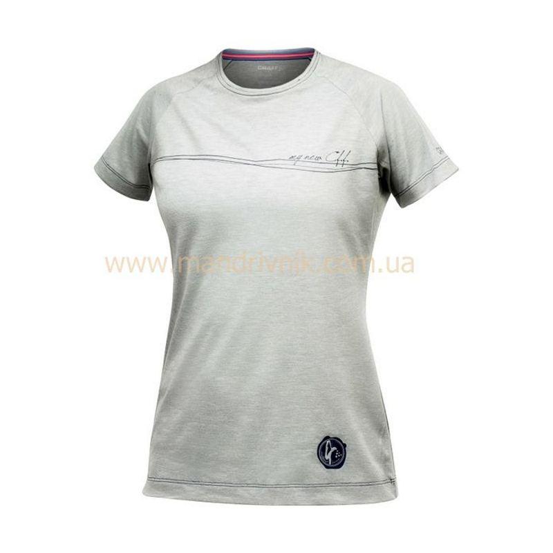 Футболка Craft Active Run 1901345 жфкр Training Tee W (6950 grey melange/balance, M)