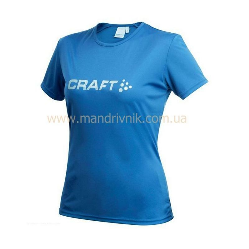 Футболка Craft Active Run 192482 жфкр Logo Tee W (1336 Sweden blue, M)
