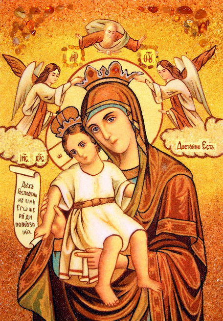 иконы божьей матери описание: