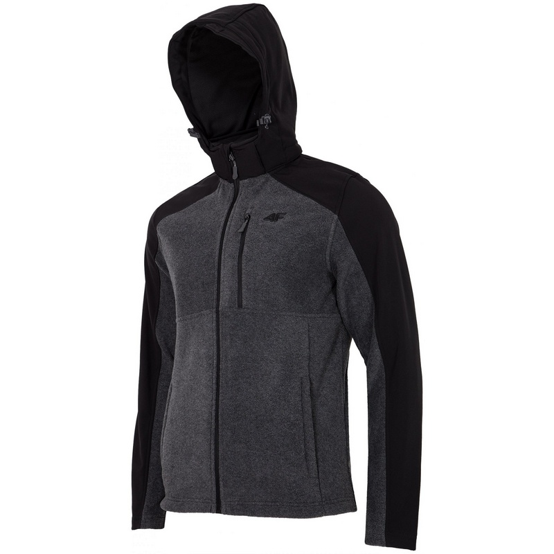 Buy Jacket 4F Fleece H4L17-PLM002 (1945 dark gray melange, XL)