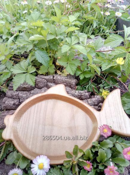 """Деревянная тарелка  """"Рыбка"""""""