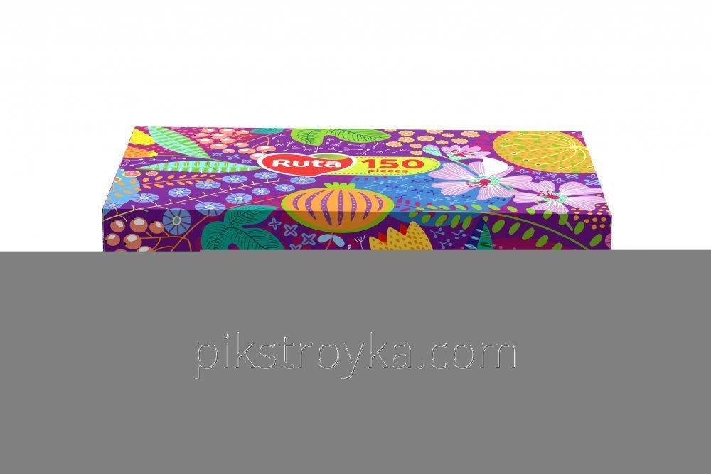Купить Салфетки косметические в коробке Ruta 150шт Декор 1/15