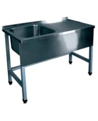 Table bathtub production without shelf with an apron 1500х600х850 a bowl 500х450х300