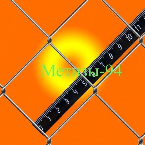 Купить Сетка Рабица 50*1,8 мм плетеная оцинкованная для дешёвого забора