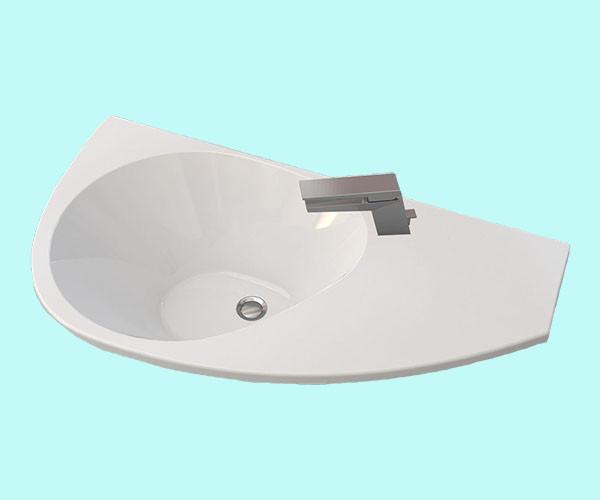 Умывальник акриловый ARTEL PLAST APR 012 - 15 белый