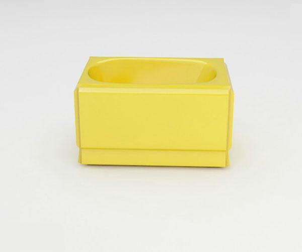 Ванна акриловая ARTEL PLAST  Голуба (120) желтая