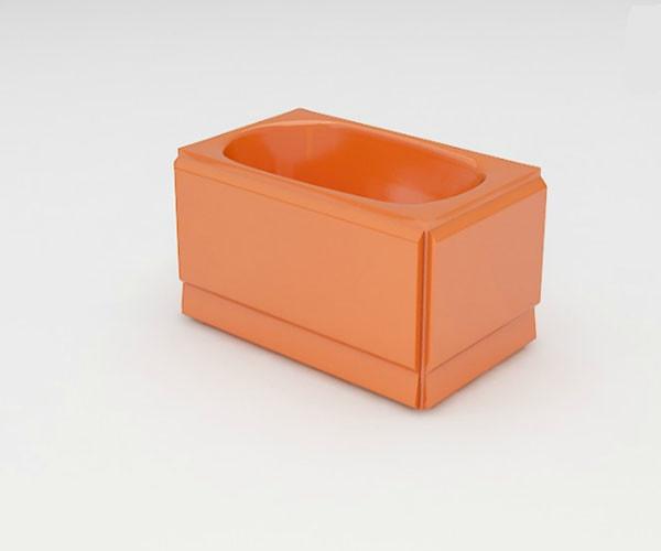 Ванна акриловая ARTEL PLAST  Голуба (120) оранжевая