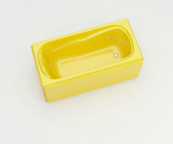 Ванна акриловая ARTEL PLAST Марина (150) желтая