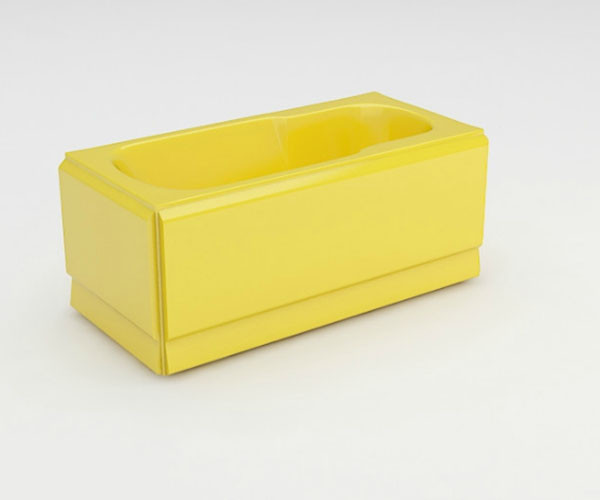 Ванна акриловая ARTEL PLAST Роксана (150) желтая