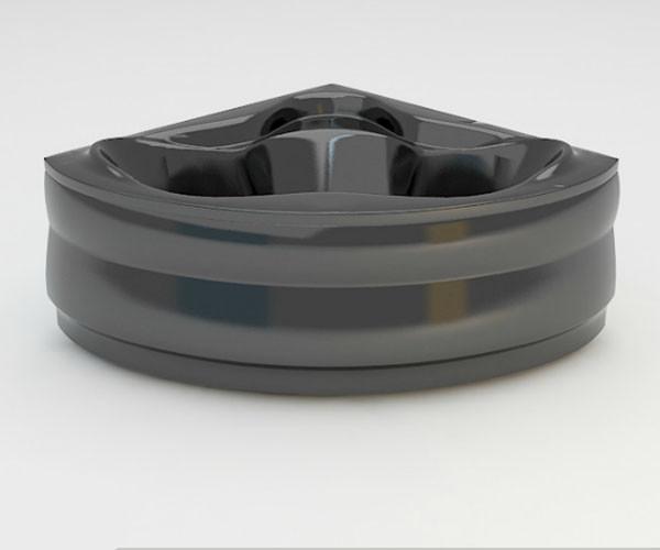 Ванна акриловая ARTEL PLAST  Станислава (150) черная