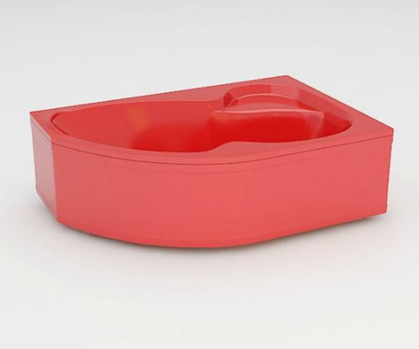 Ванна акриловая ARTEL PLAST Валерия (160) красная
