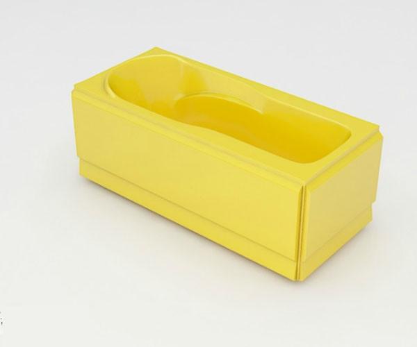 Ванна акриловая ARTEL PLAST Устина (140) желтая