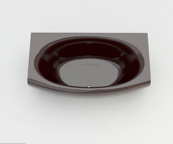Ванна акриловая ARTEL PLAST Эльмира (180) коричневая