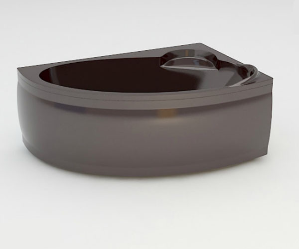 Ванна акриловая ARTEL PLAST Стелла (170) коричневая