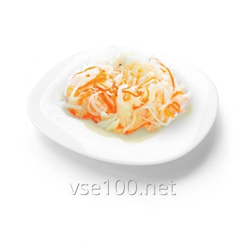 Cabbage fermented with carrots