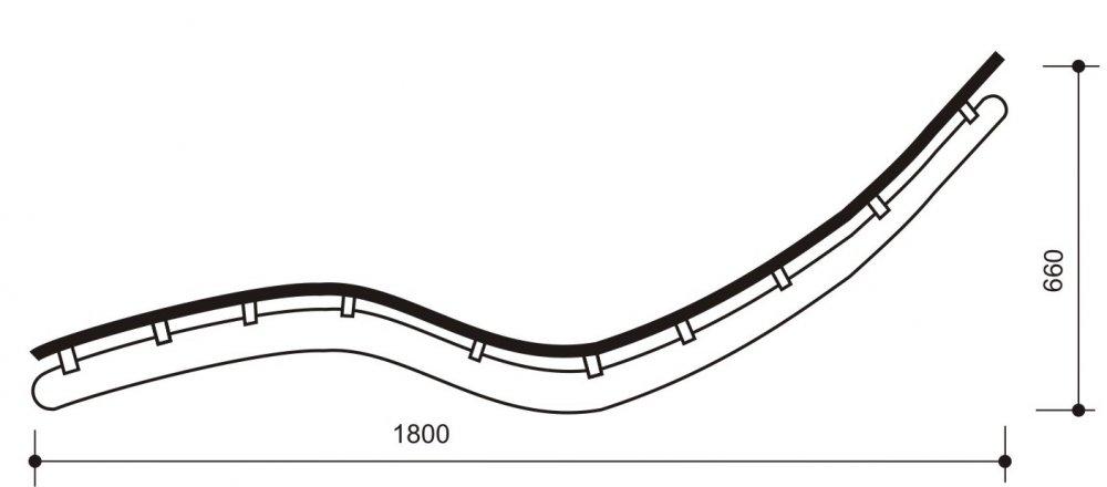 Лежак для саун и бань