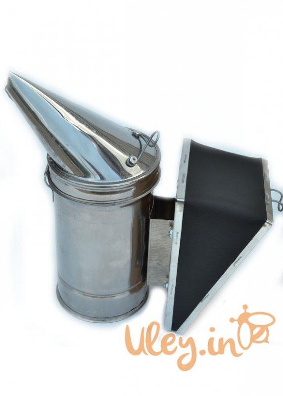 Купить Дымарь пасечный из нержавеющей стали мех- кожзаменитель
