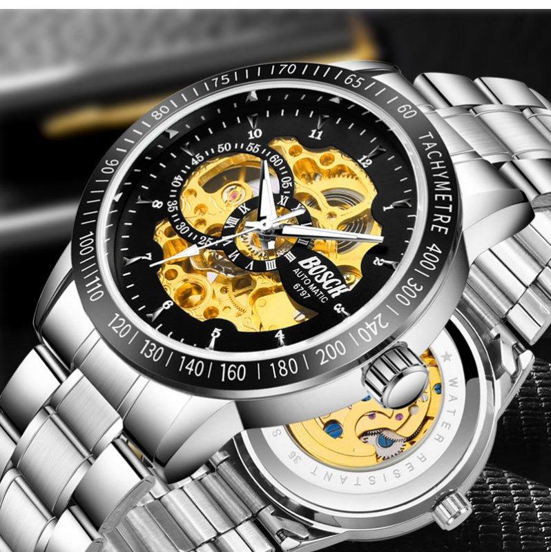 BOSCK™  Часы мужские механические ( Skeleton ) с автоподзаводом.