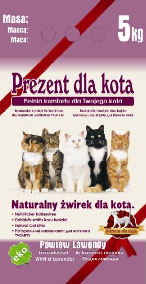 Наполнитель для кошачьих туалетов Prezent dla Kota
