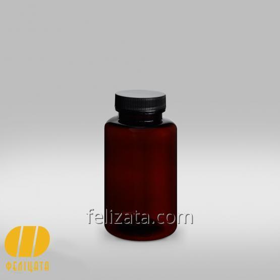 ПЭТ бутылка янтарная 200 мл