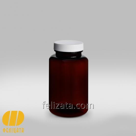 ПЭТ бутылка янтарная 250 мл