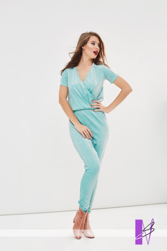Buy Stylish overalls from Lurex of menthol color