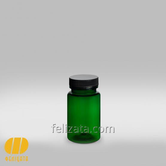 Купить ПЭТ бутылка зеленая 120 мл