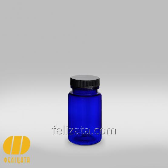 ПЭТ бутылка синия 100 мл