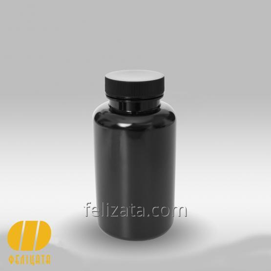 Black PET bottle 250 ml