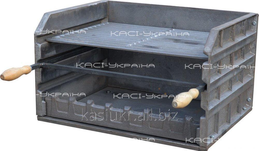 Мангал-гриль (барбекю-комплекс) чугунный без ножек №7