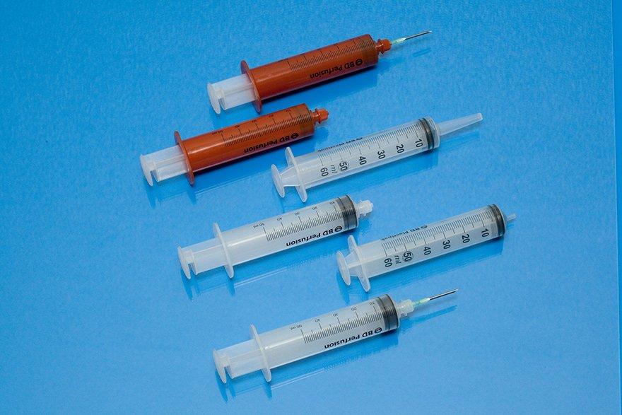 Ml syringe BD Plastipak 50/60  Luer-Lock, without needle