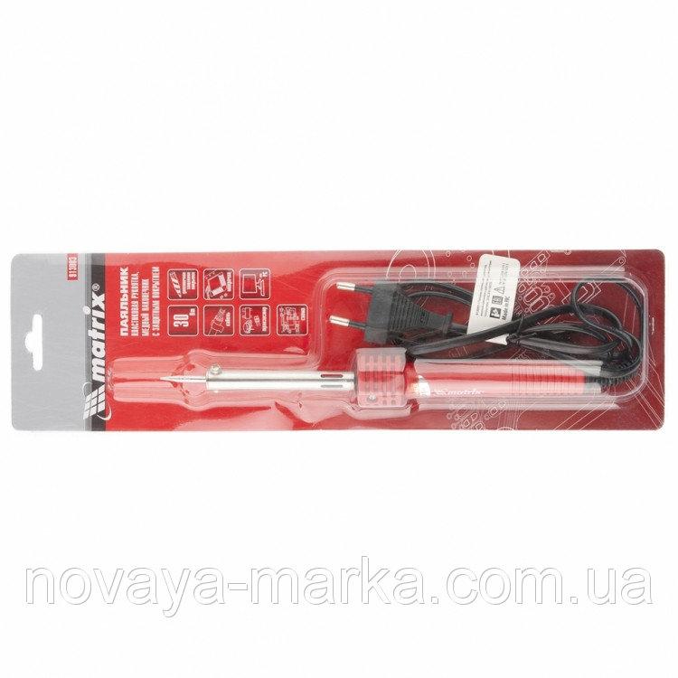 Buy Soldering iron, plastikov handle, m_dny nak_nechnik z dovgostr. zakhisny pokrittyam, 220 V, 30W//MTX 9130039
