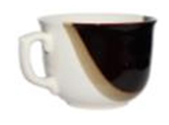 Чашка Аппетитка капля бело-черная