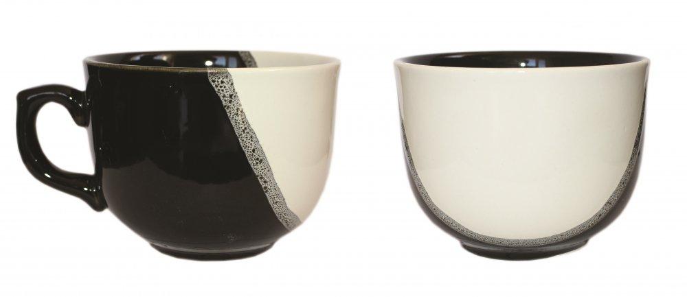 Чашка Аппетитка капля чёрно-белая