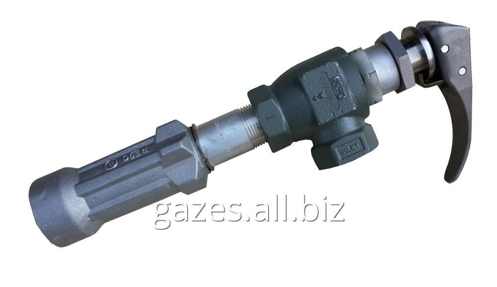 Струбцина  REGO  A7708L + 7575L4 для полуприцепов-газовозов, слива пропан-бутана, налива АГЗС, СУГ, LPG, сжиженного газа, кран  для автоцистерн