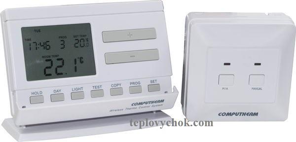 Комнатный термостат COMPUTHERM Q7 RF (беспроводной)