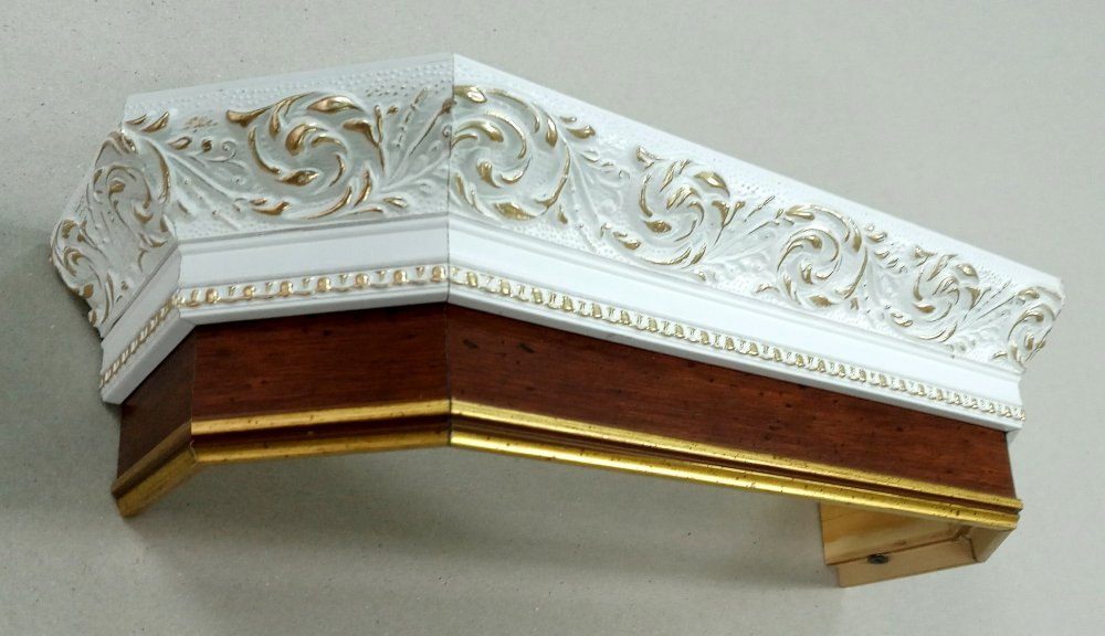 Cornice for curtains Czech, rose white PAS + 12 brown (9.5sm).