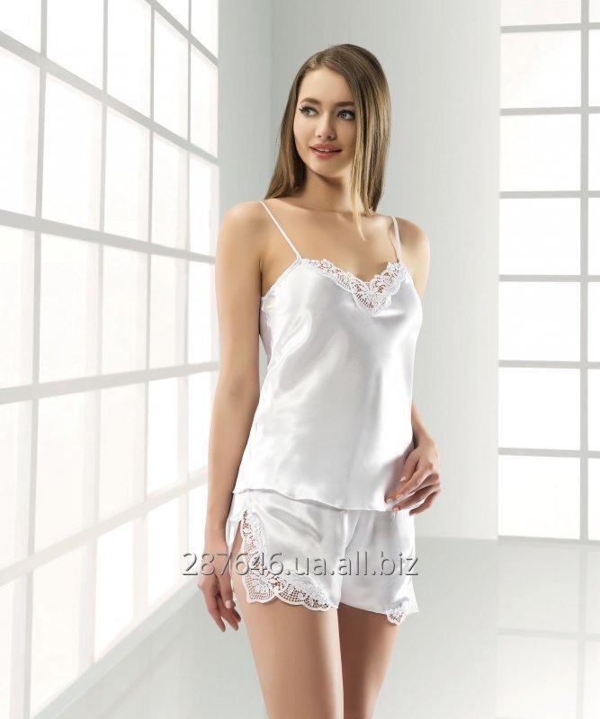 b366956f18258 Атласная женская пижама майка с шортами купить в Киеве