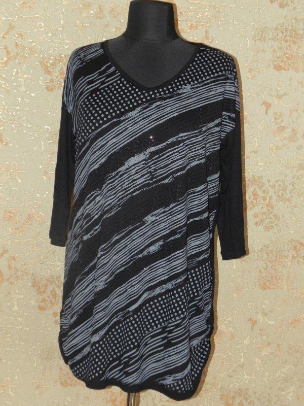 Туника женская черная 56, арт. 5685
