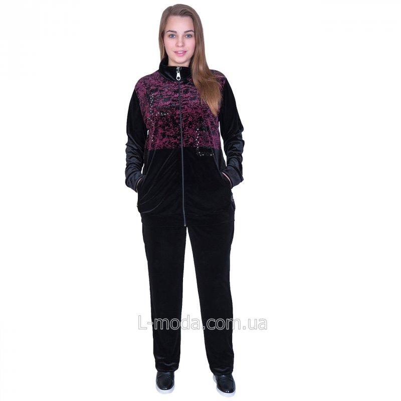 Спортивный костюм велюровый женский 56, арт. 49771