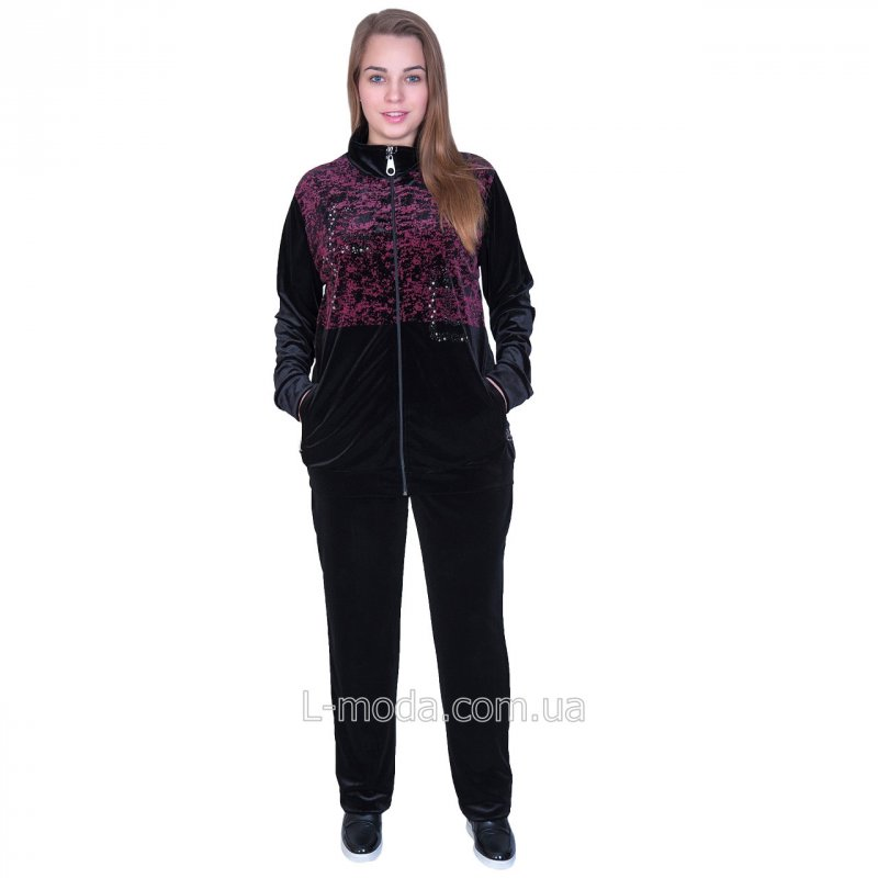 Спортивный костюм велюровый женский 62, арт. 49771