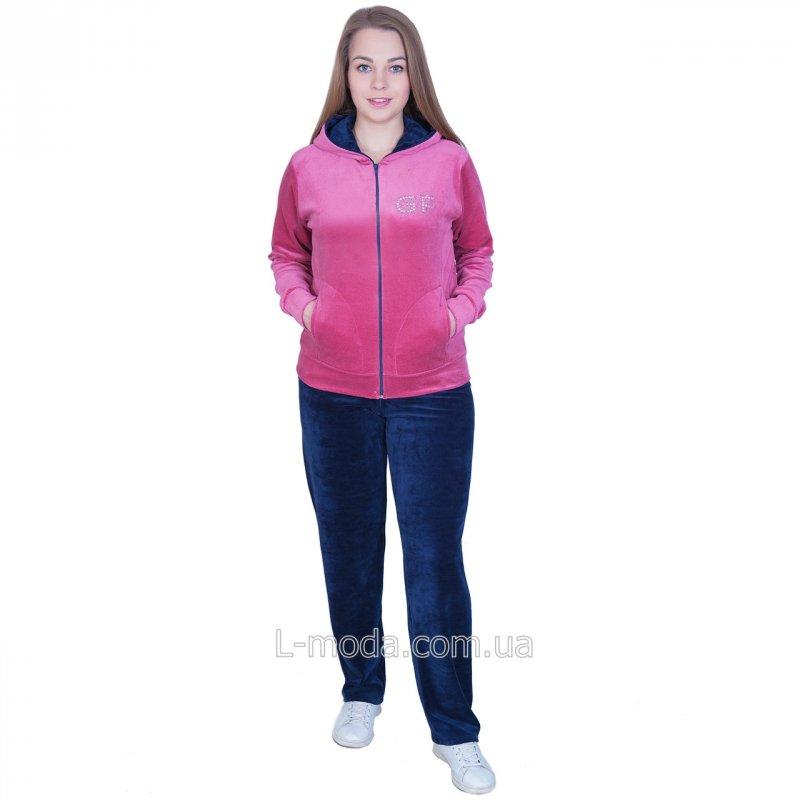 Спортивный костюм женский велюровый 54, арт. 52475