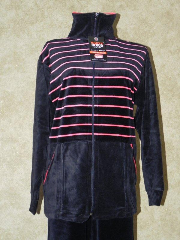 Костюм женский велюровый с удлиненной курткой 50, арт. 5377