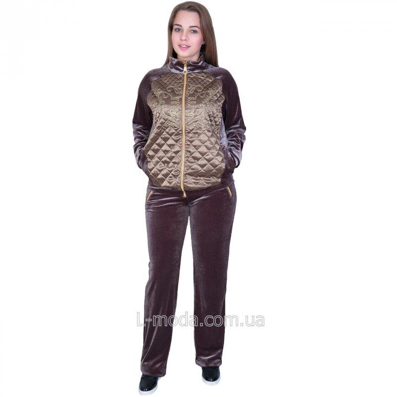Велюровый спортивный костюм женский 48