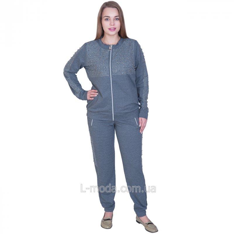 Женский спортивный костюм серый Турция 54
