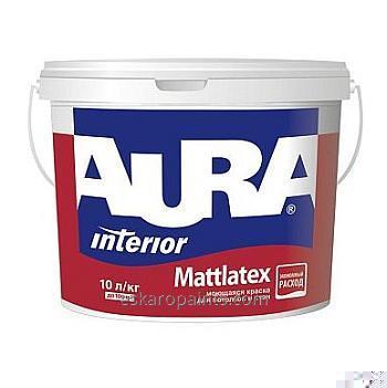 Моющаяся краска для потолков и стен Aura Mattlatex 10л